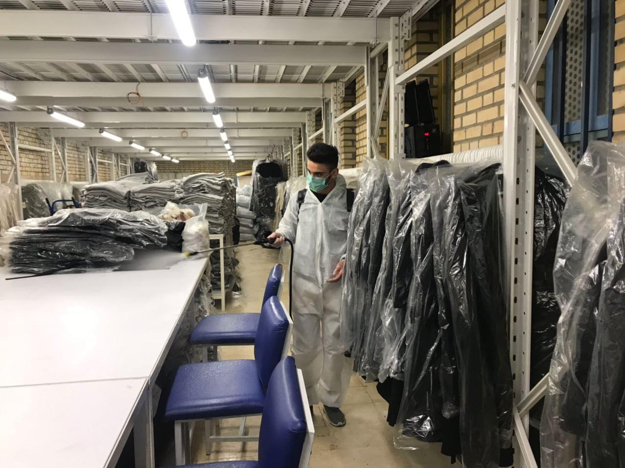ضدعفونی تولیدی پوشاک